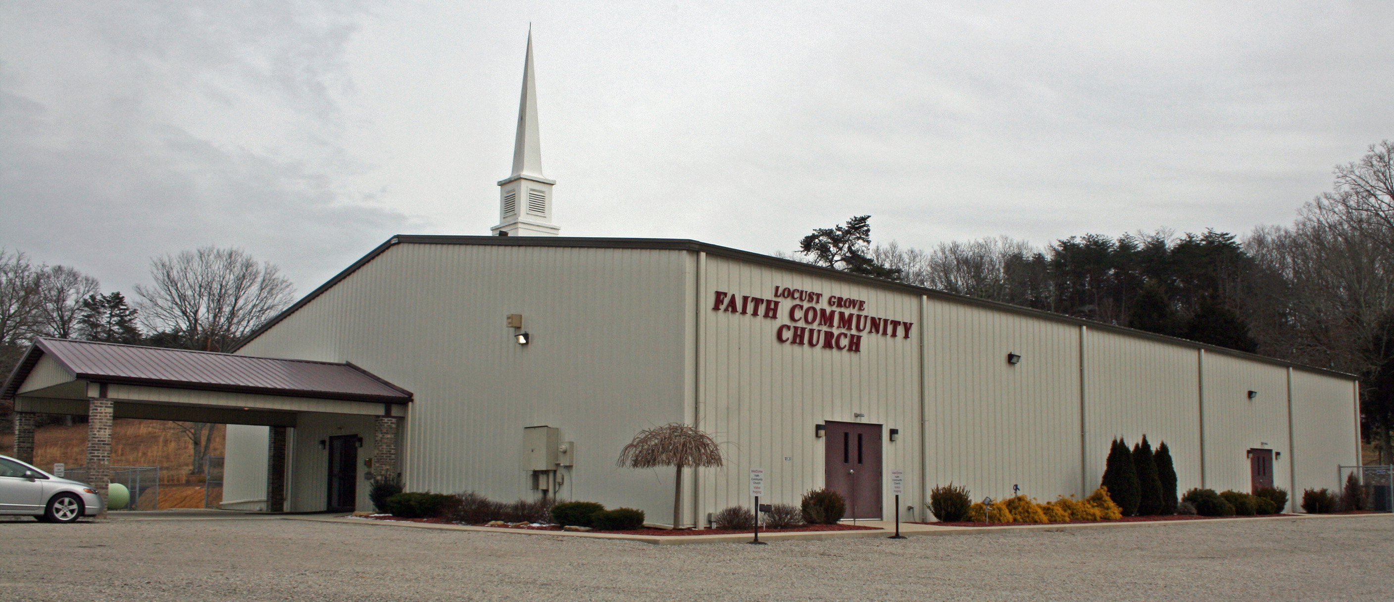 steel frame church building
