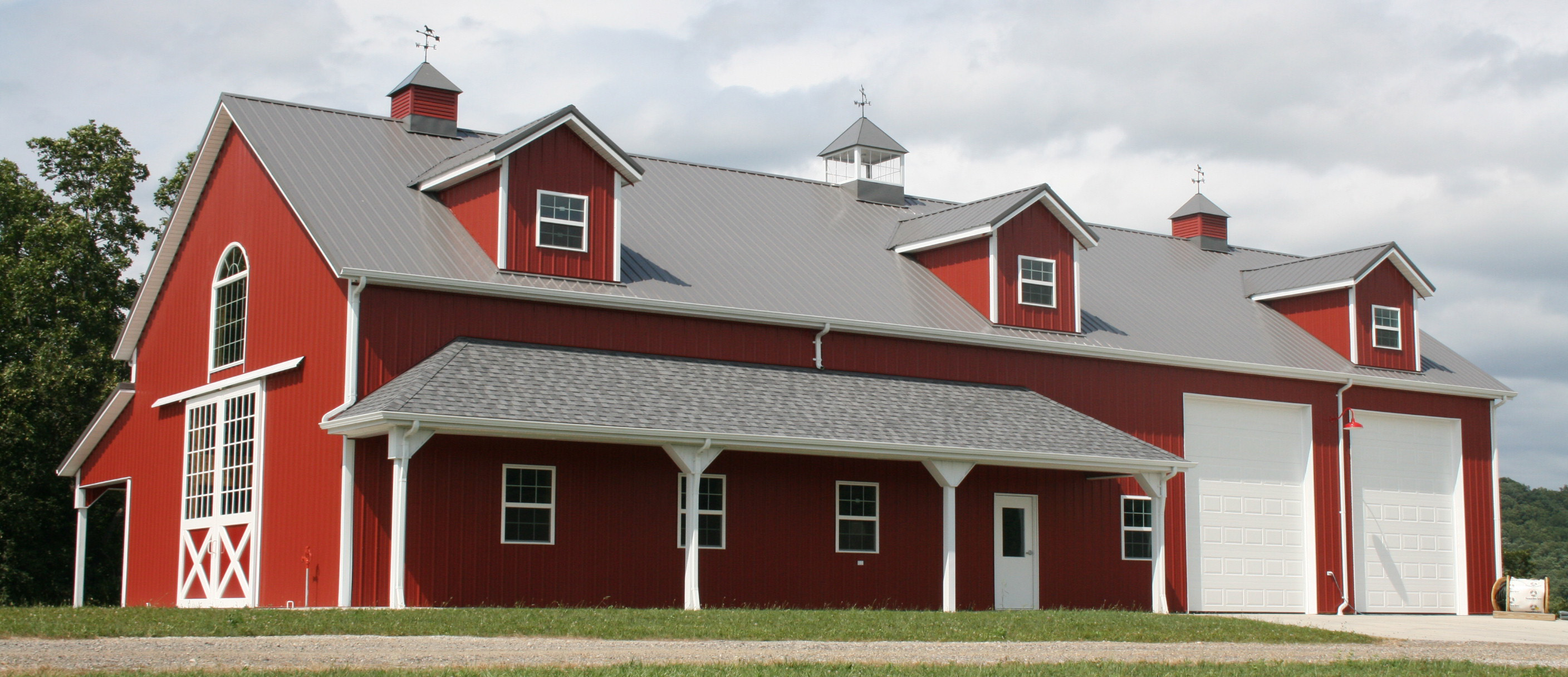 steel building horse barn